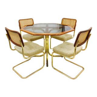Vintage Mid-Century Modern Chrome Craft Dinette Set
