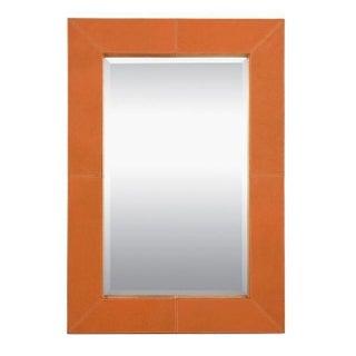 Made Goods Orange Leather Brooke Mirror