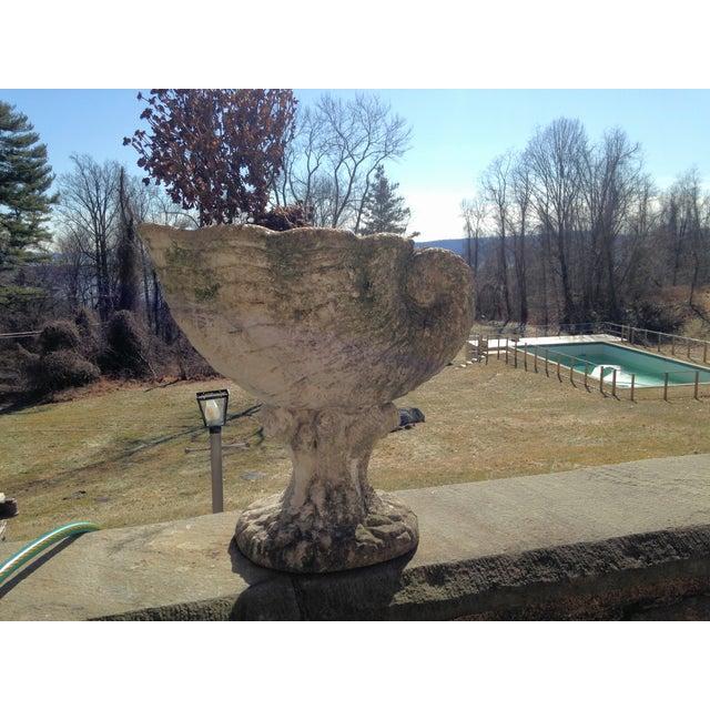 Large Antique Cornucopia Shaped Garden Planter - Image 10 of 10