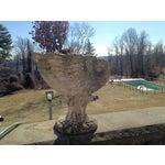 Image of Large Antique Cornucopia Shaped Garden Planter