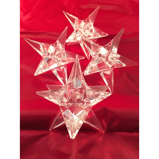 Rosenthal Crystal Star Candle Holders - 4 - Image 3 of 5