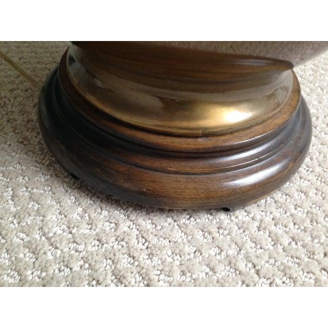 Image of Hollywood Regency Chinoiserie Brass Ginger Lamp