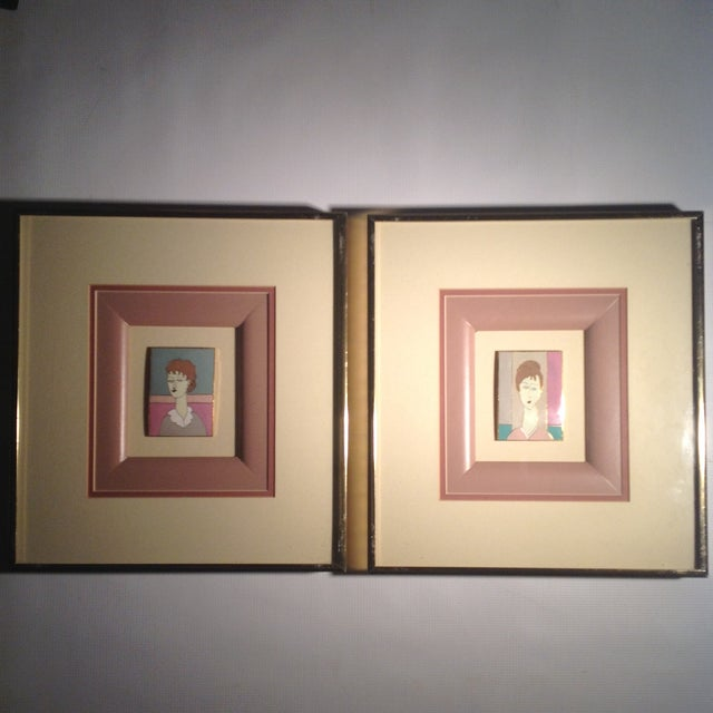 Image of Harris Strong Tiles After Modigliani - A Pair