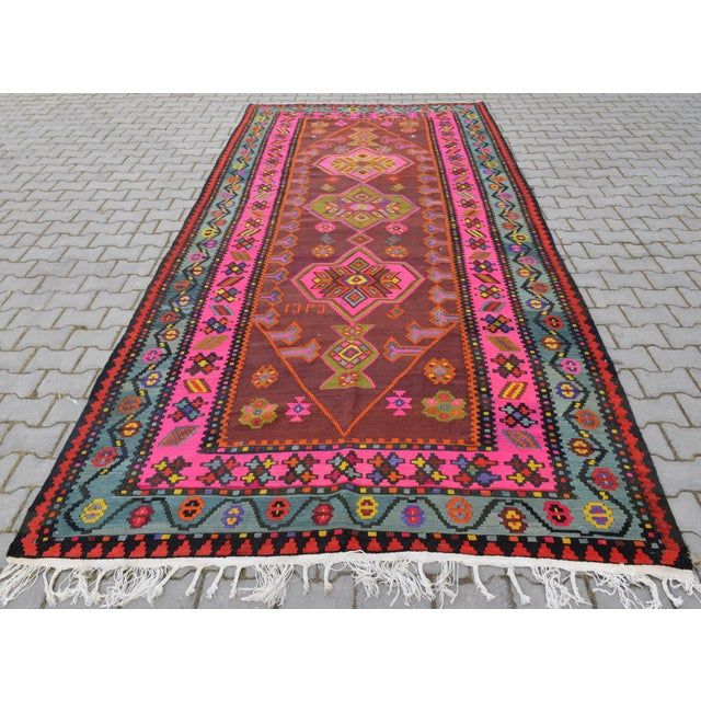 Anatolia Turkish Kilim Rug - 6′6″ × 14′2″ - Image 5 of 10