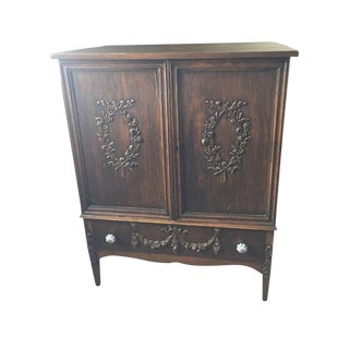 Sligh Antique Hand Carved Armoire Dresser