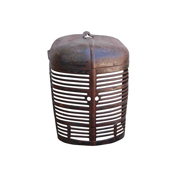 Antique Industrial Farm Tractor Grill Art Piece - Image 1 of 7