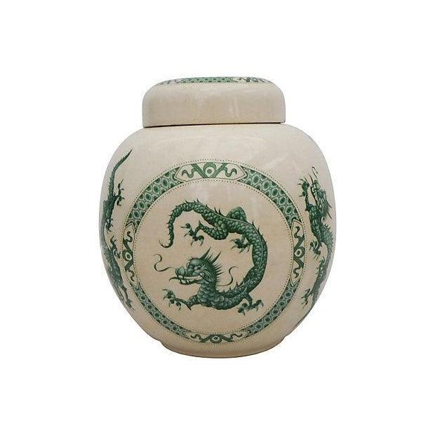 Porcelain Dragon Ginger Jar - Image 1 of 4