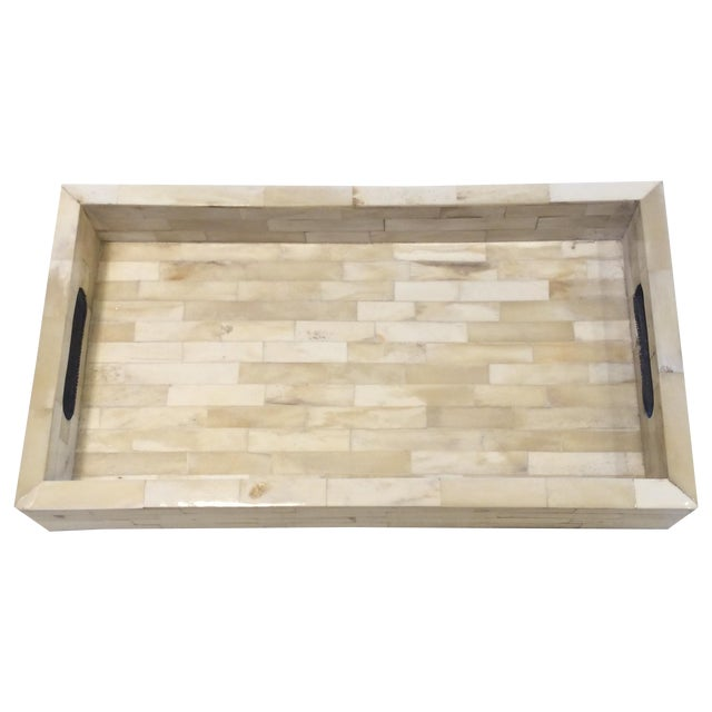 Natural Ivory Bone Serving Tray - Image 1 of 9