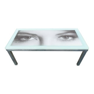 Vintage Hollywood Regency Style Resin Eyes Coffee Table