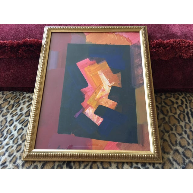 Erle Loran Abstract Gouache - Image 4 of 6