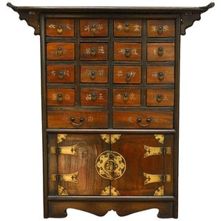 Chinese Table Top Apothecary Medicine Cabinet