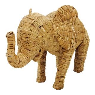 Vintage Woven Elephant