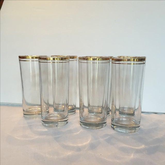 Gold Trimmed Glasses - Set of 7 - Image 2 of 10