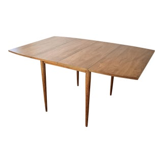 Mid-Century Modern Dropleaf Wooden Dining Table