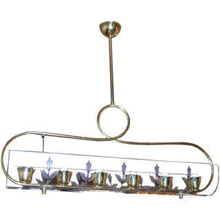 Fontana Arte Mid-Century Italian Six-Light Chandelier