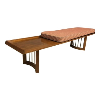 Mid-Century Bench & Cushion