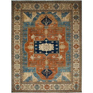 """Ziegler, Hand Knotted Area Rug - 9' 1"""" x 11' 9"""""""