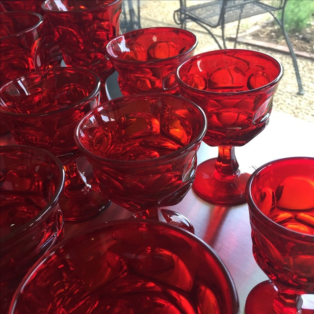 Fostoria Red Glasses - Set of 27 - Image 4 of 6