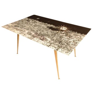 Fornasetti Glass and Brass Coffee Table