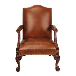 Samuel Leather Library Arm Chair