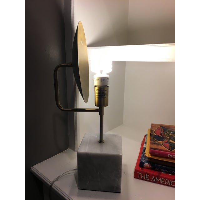 Modern Marble & Metal Directional Table Lamp - Image 7 of 8