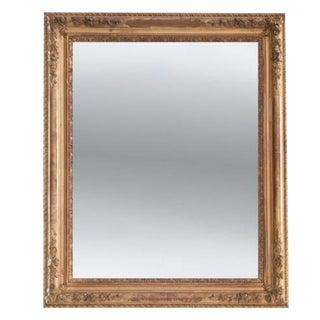 French 19th Century Symmetrical Gold Gilt Mirror