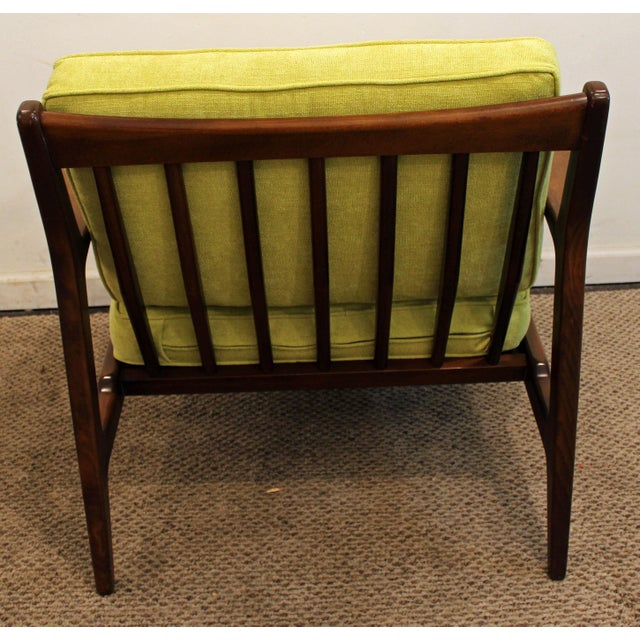 Mid-Century Danish Modern 'Citron' Walnut Open Arm Lounge Chair - Image 5 of 11