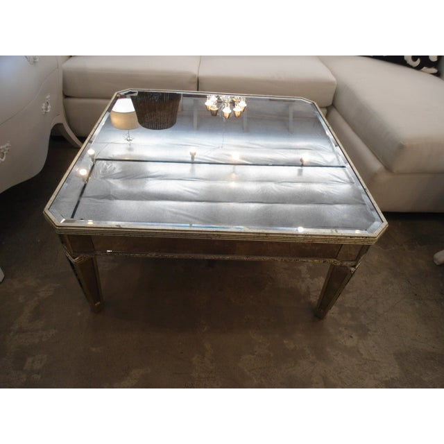 Horchow Amelie Mirrored Coffee Table Image 4 Of 6