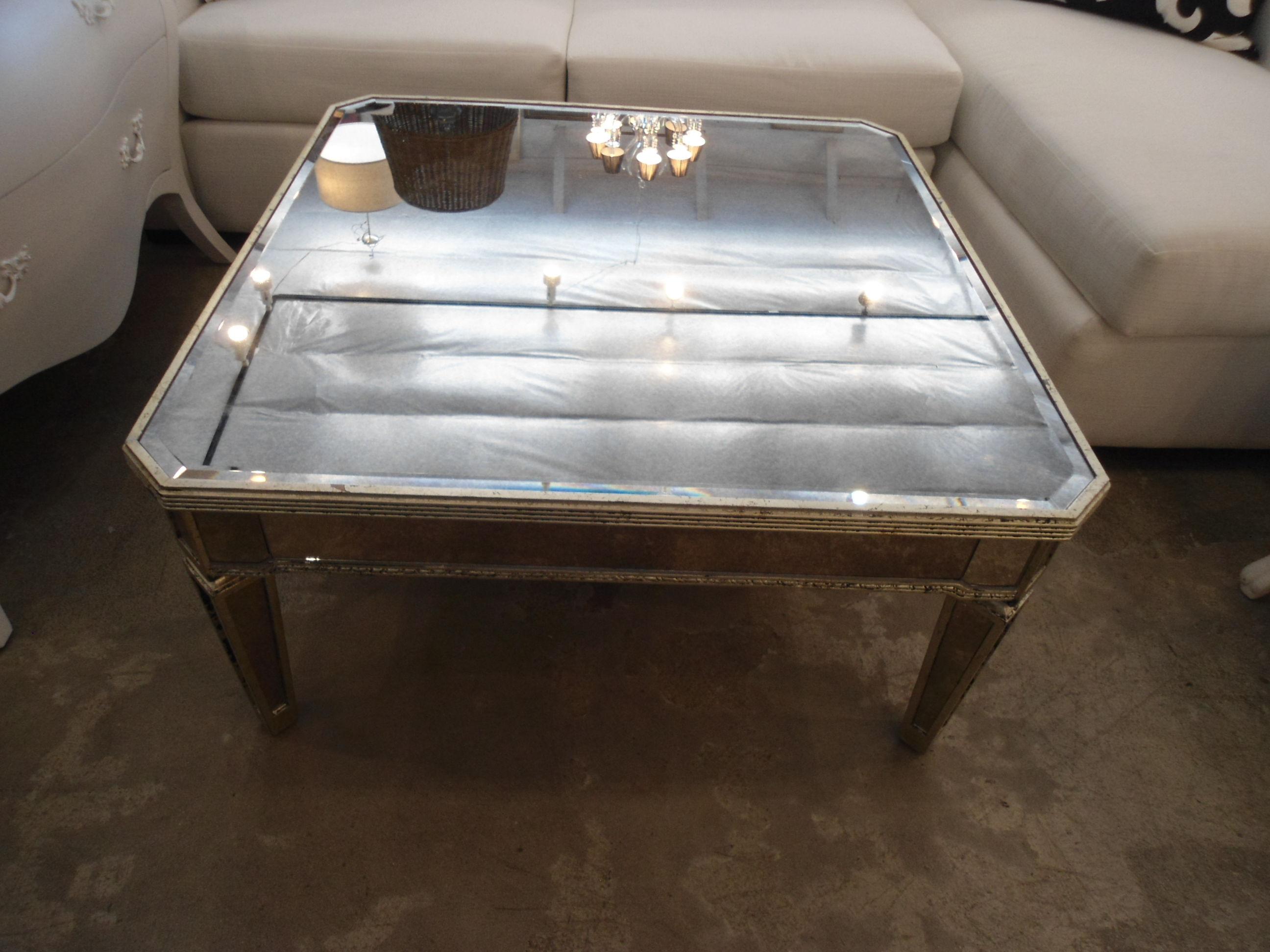 Amazing Horchow Amelie Mirrored Coffee Table   Image 4 Of 7