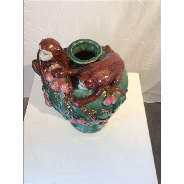 Hollywood Regency Majolica Studio Pottery Vase - Image 3 of 5