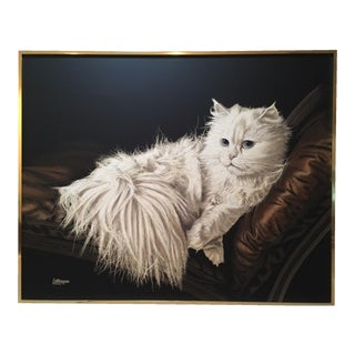 "Antoinette Letterman ""The Resting Cat (Cashmere)"" Giclee Painting"