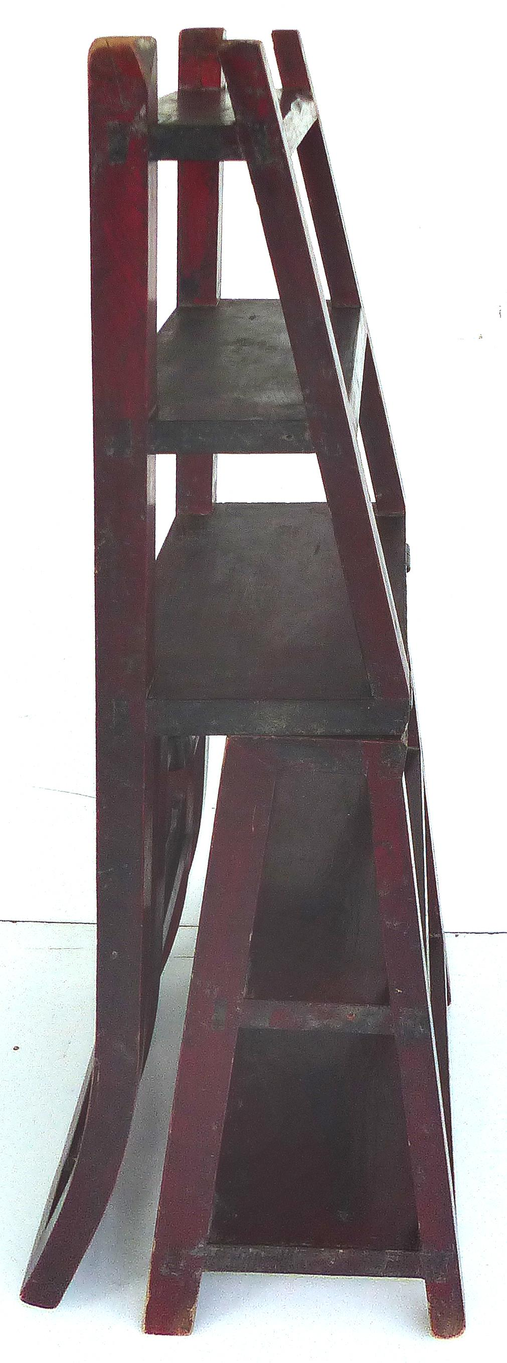 Asian Convertible Chair To Library Step Stool Chairish