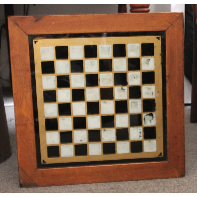19th Century all Original Reverse Painted Gameboard with Hearts from Arkansas - Image 2 of 5