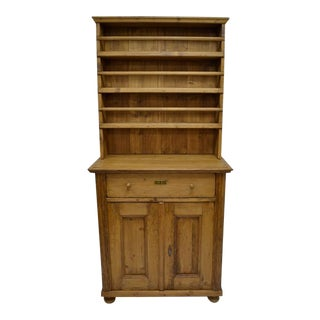 Pine Two-Piece Open Rack Dresser