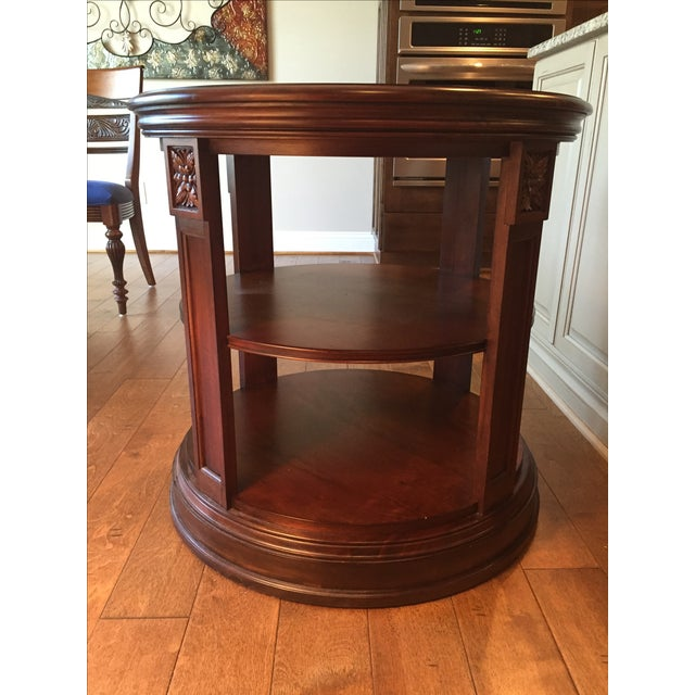 Ethan Allen Starburst Library Table - Image 2 of 4