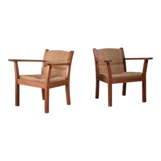 Set of two Worpsweder armchairs by Willi Ohler, Germany, 1920s