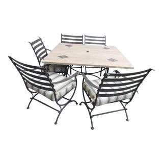 Marble & Limestone Outdoor Dining Set