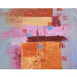 """Image of C. Plowden """"Box Arrangement #2"""" Abstract Painting"""