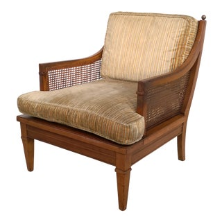 Vintage Mid Century Cane Back Lounge Chair