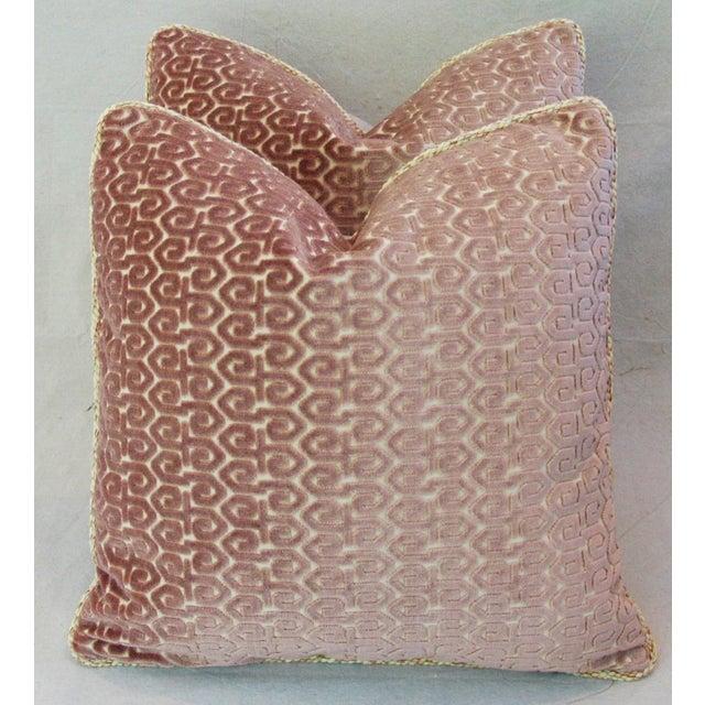 Designer Old World Weavers Velvet Pillows - A Pair - Image 4 of 11