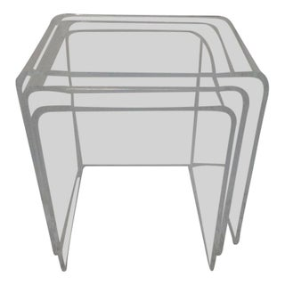 Lucite Waterfall Nesting Tables - Set of 3
