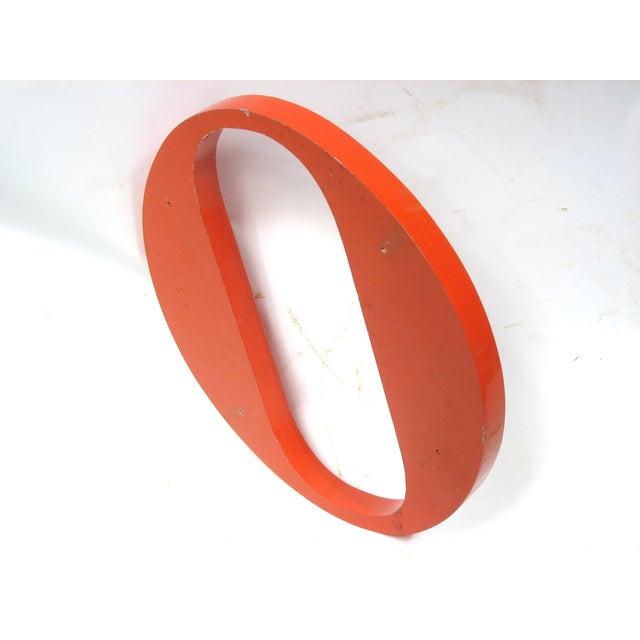 """Steel Orange """"O"""" Letter - Image 3 of 3"""