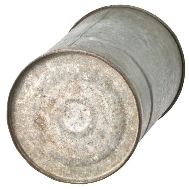 Galvanized Zinc Flower Bucket - Image 2 of 2
