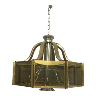Mid-Century 8 Arm Chandelier