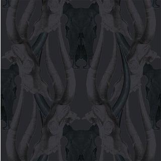 Mitchell Black Bull Smoke Wallpaper Remnant