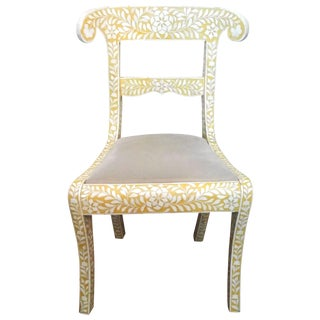 Yellow Bone Inlay Chair
