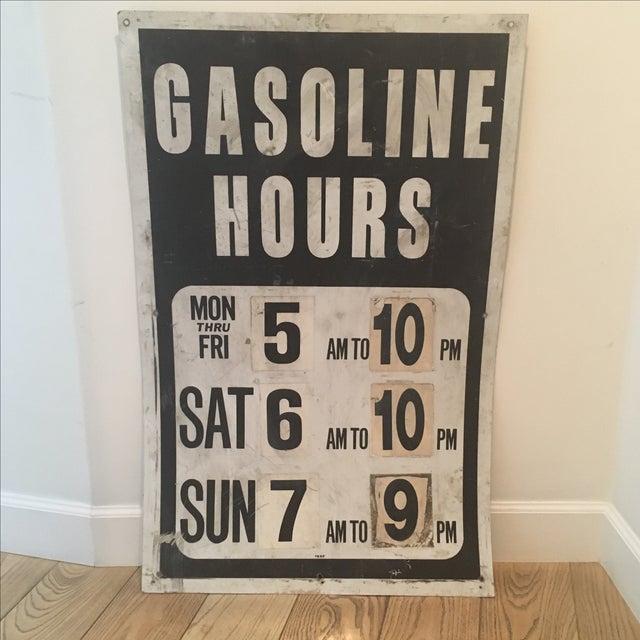 Image of Vintage Gasoline Station Sign