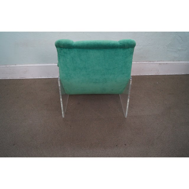 American Mid Century Modern Atomic Age Small Patio Round: Mid-Century Lucite Frame Floating Lounge Chair