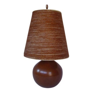 Lotte Bostlund Caramel Ombré Pottery Lamp & Fiberglass Shade