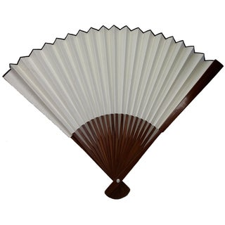 Vintage Large Chinese Bamboo Fan